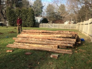 Frank Hamm | Rustic KItchen Garden Fence | Red Cedar LumberRed Cedar Logs