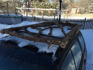 Natick | Rustic Kitchen Garden Fence | Woven Twig Gate